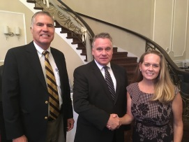 Mike Campbell, Rachel Hendricks and Rep. Chris Smith
